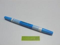 Marcador duplo,10mm, ponta soft and hard ,cor Azul (A1142B)