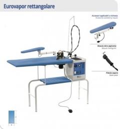 Mesa rectangular Battistella Eurovapor Rettangolare, com aspir., aqueci, ferro e caldeira 3.4Lt Inox  (112x58cm)