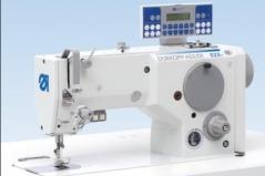 Maquina de costura de zigzag Durkopp 525I-847 E075, com corte remate e levantamento de calcador