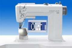 Maquina de costura Durkopp pregar mangas 650-10 E1 / OP 7000, com tampo e bancada