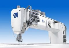 Maquina de costura triplo arrasto Durkopp Adler 867-290322-70 E721/6-6 com motor Efka DC1550DA, corte de linha e levantamento de calcador automático.