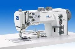 Maquina de costura triplo arrasto de meter bibos / afitar Durkopp-Adler 867-392342 LG E46 com motor Efka DC1550DA, com corte de linha