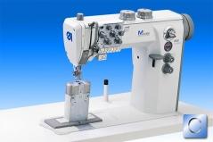 Maquina de costura de coluna triplo arrasto Durkopp Adler 868-490322 E 453/8-9, EFKA DC 1550, V820 , 2 agulhas, com suspensao de agulhas, motor integrado na cabeça, corte de linha, remate automatico e levantamento de calcador