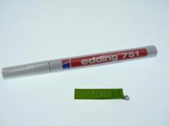 Marcador branco Edding 751