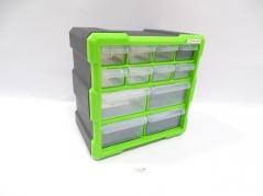 Caixa de arrumação com 12 gavetas com 26.5x26x16cm