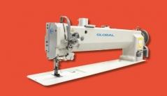Maquina de costura triplo arrasto braco longo GLOBAL WF 925-60 AUT, com corte de linha