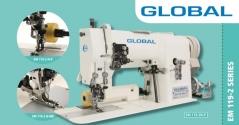 Maquina de costura ponto aberto com lamina Global EM 119-2 N-MK