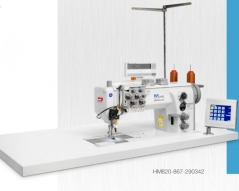 Maquina de costura triplo arrasto duas agulhas de ponto decorativo Durkopp-Adler HM820-867-290322