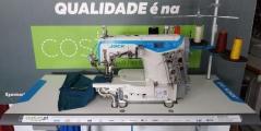 Maquina de costura recobrimento de aparar bainhas Jack K4-UTL-35ACx356, , com motor servo direct drive
