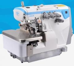Maquina de costura corte e cose Jack JK-E4-5-03/333 de 2 agulhas 5 fios 8MM com tampo e bancada