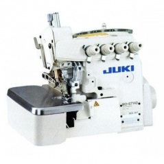 Maquina de costura Juki MO6704DA-OE4-40H-BBO - 1 agulha rolinho, com motor servo, tampo e bancada nacional