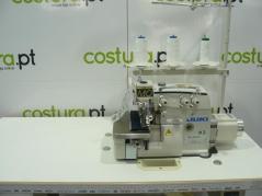 Máquina de costura Juki MO6804D-OE4-30H, equipada com motor servo, bancada e tampo nacional