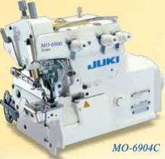 Máquina de costura Juki MO6904C-0E6-307 1agulha 3 fios, com motor servo, tampo e bancada nacional