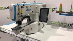 Maquina de costura de mosquear/pregar botões Jack T-1900GSK-D com tampo e bancada