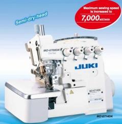 Máquina de costura Juki MO6714DA-BE6-44H//G39/Q141-BB0 - 2 agulhas 4 fios, com motor servo direct drive, tampo e bancada nacional