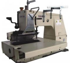 Maquina de costura Kansai Special 1433 P de 33 agulhas 3/16, com motor servo e bancada de rodas