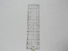 Regua Quilting, 160x600 mm, escala métrica, Preta