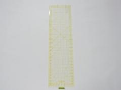 Regua Quilting, 160x600 mm, escala métrica, amarela