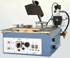 Maquina de vincar bolsos METALMECCANICA PT09, com matriz ajustavel universal