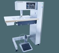 Maquina de costura de base plana de Ultrasom Nucleus Rotosonic DX1 - TC12, com FFW sistema regulação desgaste versão DX1, puller para DX1, sistema de corte + Soldagem DX1 CW,