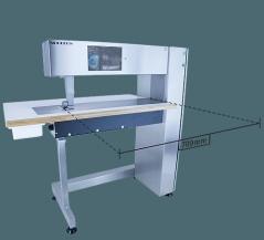 Maquina de costura de base plana braço longo de 70cm de Ultrasom Nucleus Rotosonic DX1 - TC12, com FFW sistema regulação desgaste versão DX1, puller para DX1, sistema de corte + Soldagem DX1 CW,