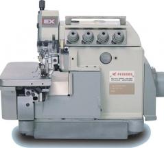 Maquina de costura corte e cose Pegasus EX5214 c/EFKA DC1500 AB221 acoplado e bancada nacional