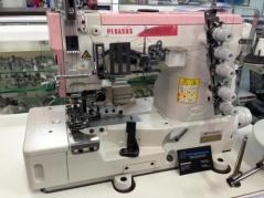 Maquina de costura meter coloretes Pegasus W562PV-02x356BS/TK3C/Z054, com corte de colorete Pneumatico