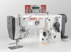 Maquina de costura de zigzag 3 pontos Pfaff 938-716/06-6/01-900/51 BS X 7,0 N2,5, com motor servo, corte de linha e remate, bancada e tampo