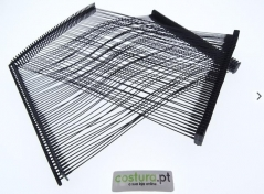 Pinos plásticos Nylon em pente preto 125mm ( 5000unid )