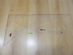 Regua Caraton 60x30 hipo curva sisa e lagrima com medidor de botoes