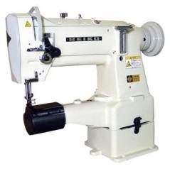 Maquina de costura de braço Seiko LCW-8BL de 1 agulha, com motor tampo e bancada