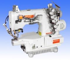 Maquina de costura Siruba S007KDW122-356/PCH-3M/UTT, com braço estreito, equipada com motor servo, corte de linha e levantamento de calcador