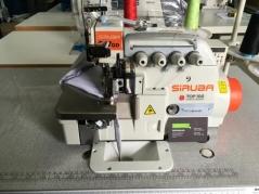 Maquina de costura corte e cose Siruba 747QD-514M2-24/VTE, com corte, levantamento e leitura de fotocelula