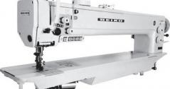 Maquina de costura de braco longo de 76cm Seiko BEW-8BLCS-30-BTFL-CD-DS triplo arrasto, com corte de linha, remate automatico, duplo ponto e levantamento de calcador