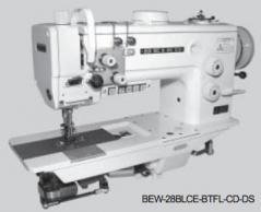 Maquina de costura triplo arrasto 2 agulhas SEIKO  BEW 28BLCE-BTFL-CD-DS, com corte de linha, remate aut. e levantamento de calcador
