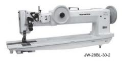Maquina de costura de triplo arrasto braco longo SEIKO JW-8BLA-30-3 com braco de 762mm x 153mm
