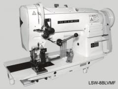 Maquina de costura de triplo arrasto de afitar Seiko SLW 8BLVMF 14MM, com tampo, bancada e motor