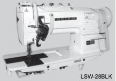 Maquina de costura triplo arrasto de duas agulhas Seiko LSW 28BLK 1/4