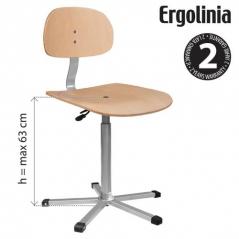 Cadeira a gás com apoio e base em contraplacado Ergolina EV0 (94013000)