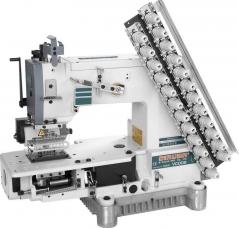 Máquina de costura Siruba VC008-21032P de 21 agulhas - 3.2mm com motor servo, tampo e bancada nacional