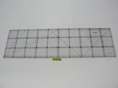 Regua Quilting, 150x500 mm, escala métrica, preta