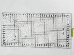 Regua Quilting, 160x320 mm, escala métrica, preta
