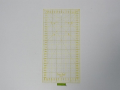 Regua Quilting, 160x320 mm, escala métrica, amarela