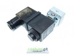 Valvula pilotagem 3/2 NF com bobine 24V ,conector e base (M2) PNEUMAX