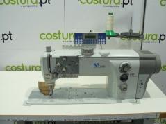 Maquina de costura triplo arrasto Durkopp Adler 867-190122-M E2, com corte de linha, levantamento e remate.