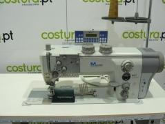Maquina de costura triplo arrasto Durkopp Adler 867-394342-M AE E80 de afitar edredons, com corte de linha, remate de linha e levantamento de calcador