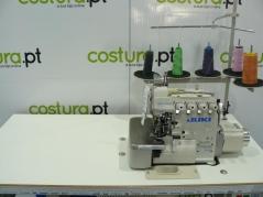 Máquina de costura corte e cose Juki MO6916R-FF6-50H Arrasto Superior- 2 ag 5 fios, com motor servo, tampo e bancada nacional