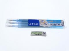 Pack de 3 recargas esfer. clicker Pilot Frixion 0.7mm ( Sai com vapor ) - Azul Claro