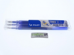 Pack de 3 recargas esfer. clicker Pilot Frixion 0.7mm ( Sai com vapor ) - Azul