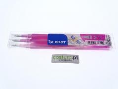 Pack de 3 recargas esfer. clicker Pilot Frixion 0.7mm ( Sai com vapor ) - Rosa
